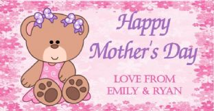 Mother's Day Chocolate Bar Wrapper Design 3